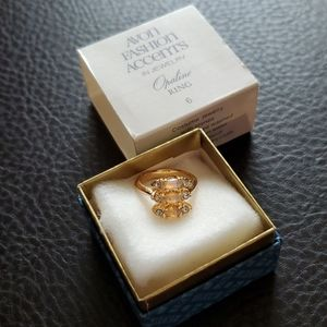VTG Avon Opaline ring- size 6- NOS
